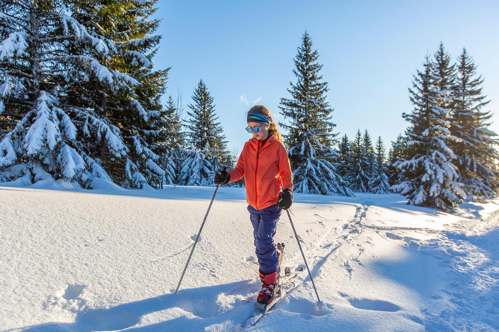 Faire du ski de rando avec des enfants