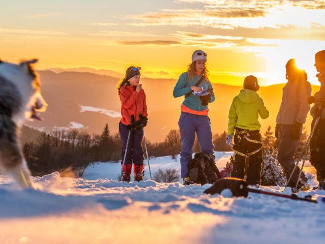 Une rando à ski en famille dans le Vercors