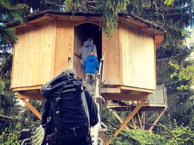 Dormir dans une cabane face au Mont Blanc