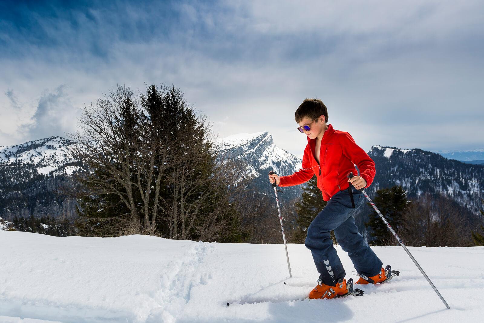 Pratiquer le ski de rando avec des enfants