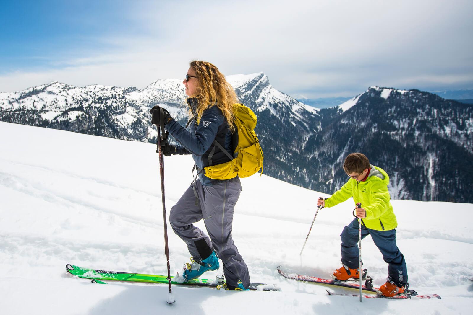 Ski de randonnée avec enfant