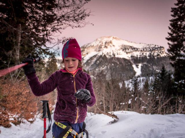 Où aller pour une première sortie ski de rando avec son enfant