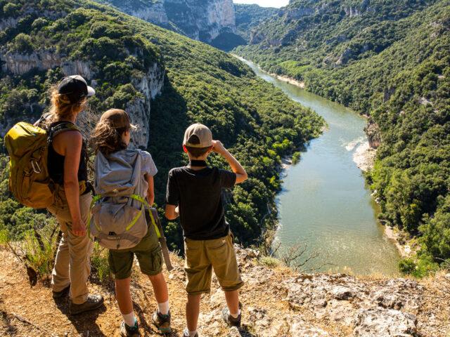 Week-end randonnée en famille dans les Gorges de l'Ardèche
