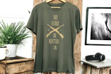 T-shirt homme bio - No Guns In Nature