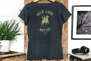 T-shirt bio femme - Wild lives matter- Dos - Petit Bivouac