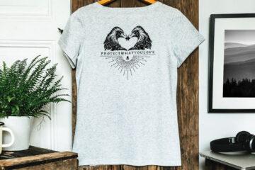 T-shirt bio femme - Dos -Aigles - Petit Bivouac