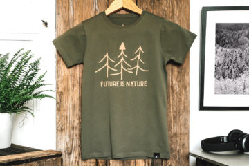 T-shirt bio enfant - Future is nature - Petit Bivouac