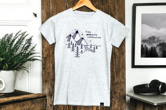 T-shirt enfant bio - Petit Bivouac - Free wild connection