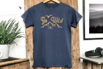 T-shirt bio enfant - Go wild - Petit Bivouac