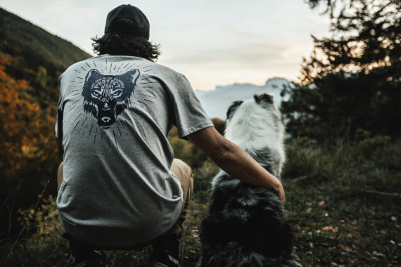 T-shirt Loup Petit Bivouac Homme Take Care of Wilderness