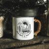 Mug anse lacée en cuir - Wild Ways Wild Days - Petit Bivouac