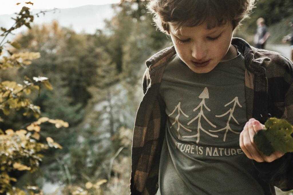 T-shirt enfant Bio - Future - Vert Mousse - Petit Bivouac
