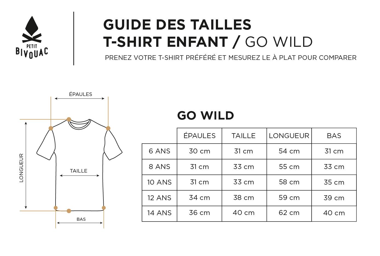 Guide des tailles-Enfant-Go wild-Petit Bivouac