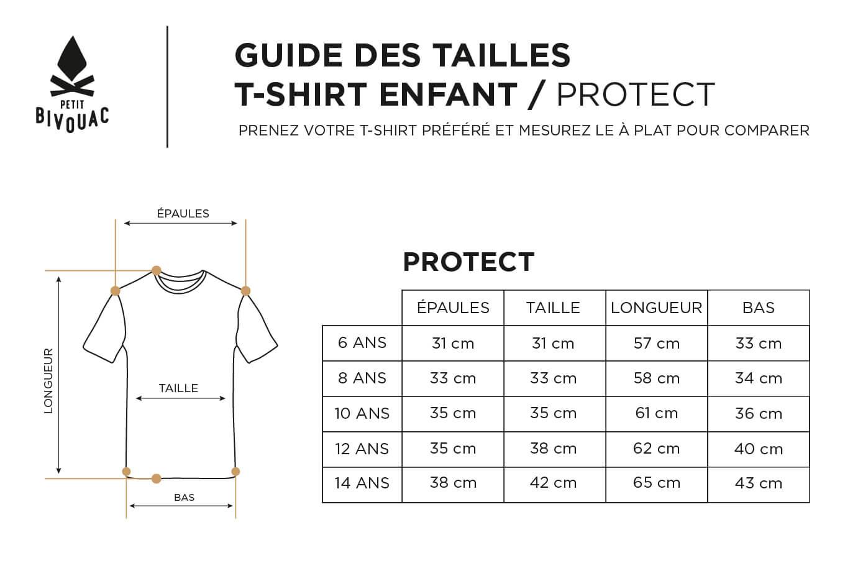 Guide des tailles-Enfant-Protect-Petit Bivouac