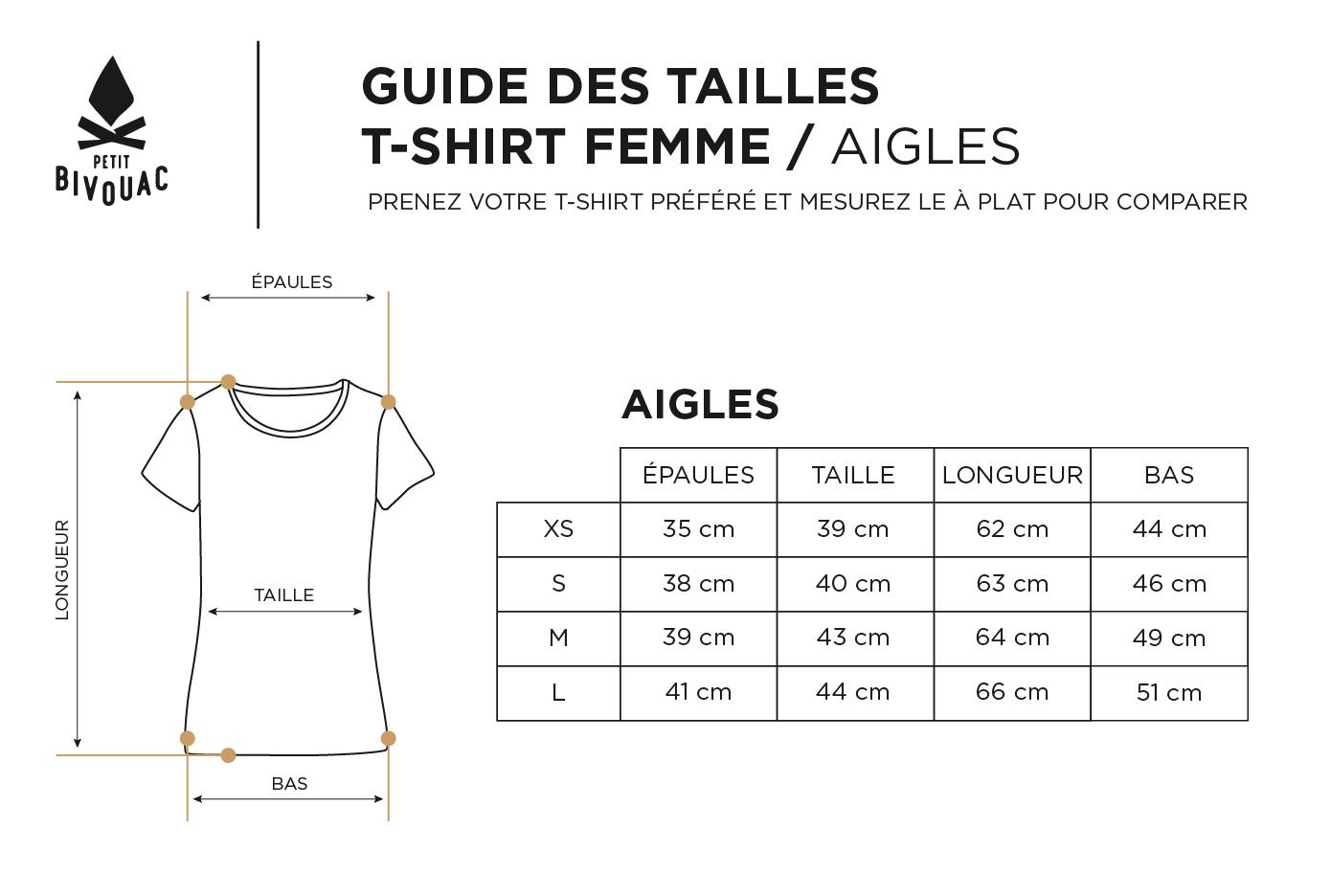 Guide des tailles-femme-Aigles-Petit Bivouac