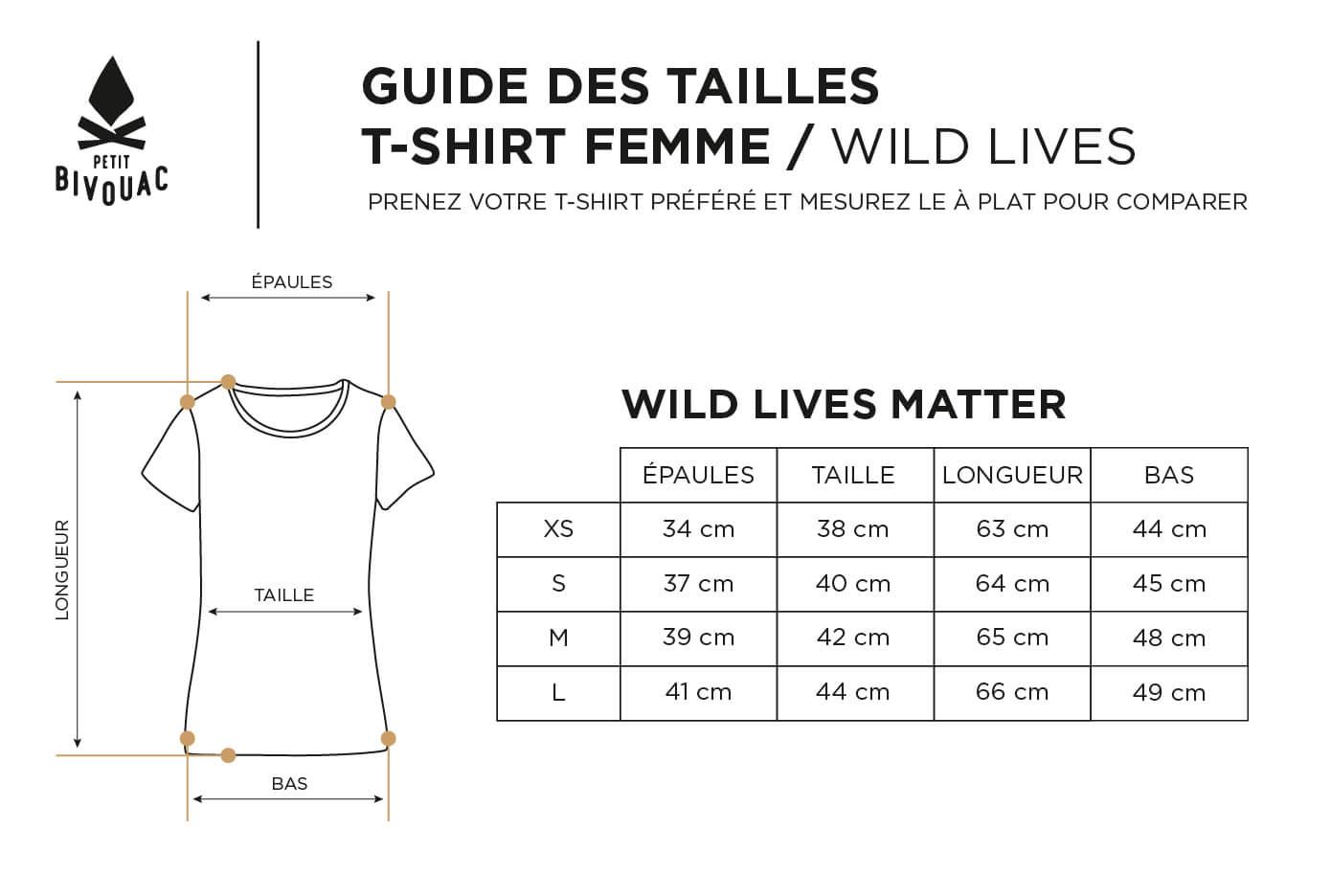 Guide des tailles-femme-Wild Lives-Petit Bivouac