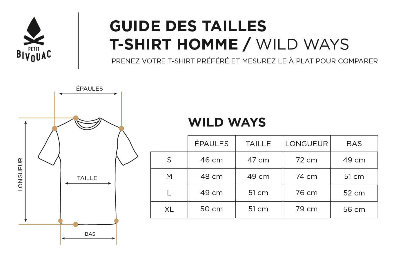 Guide des tailles-homme-Wild-Ways-Petit Bivouac