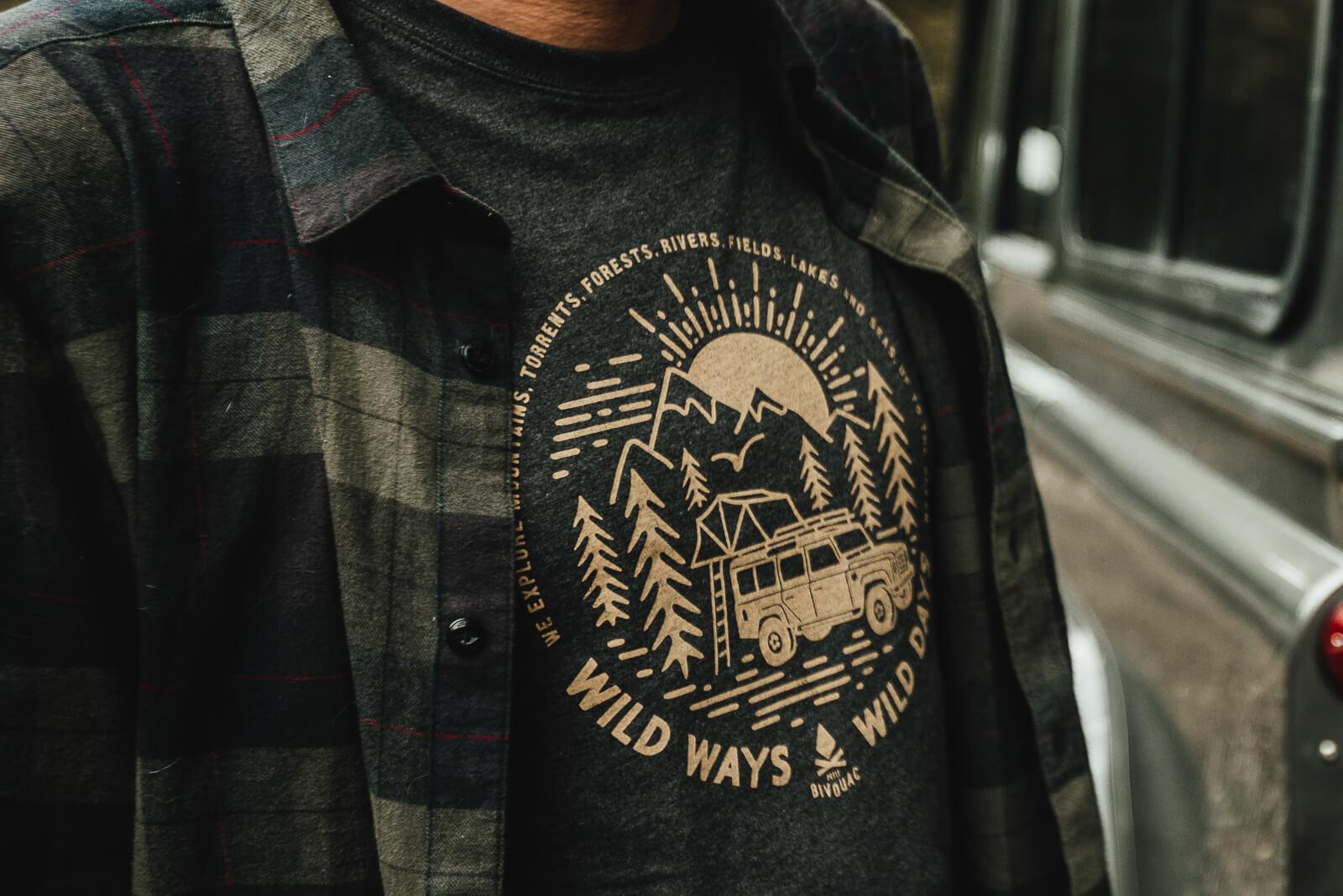 T-Shirt-Wild-Ways-Gris-ardoise-chiné-1
