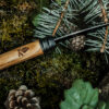 Couteau de poche olivier lame noire Petit Bivouac