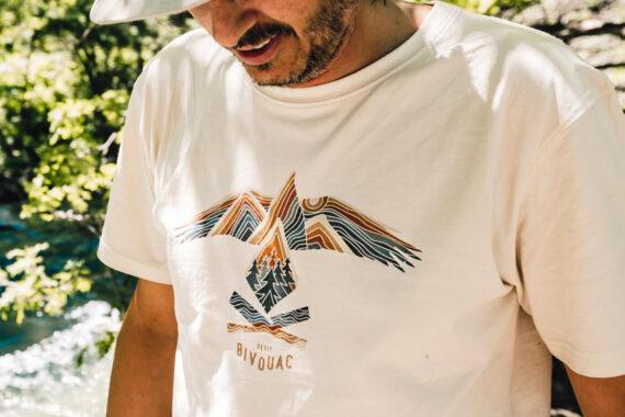 t-shirt bio homme esprit sauvage Petit Bivouac