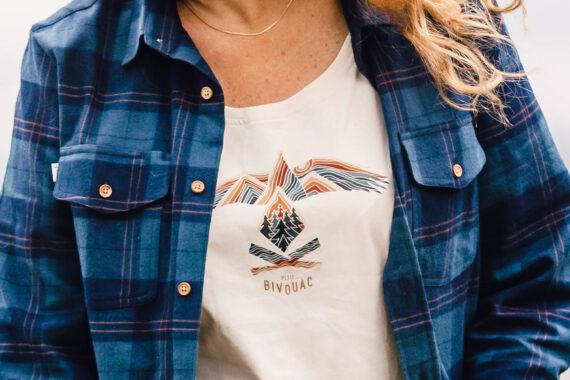 t-shirt bio femme Esprit sauvage Petit Bivouac